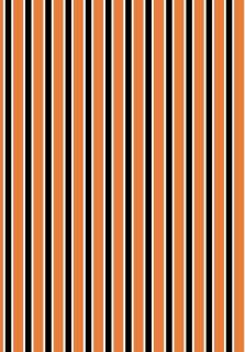 Halloween scrapbook paper 6, orange and black stripes