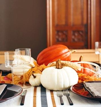 Thanksgiving table setting via Domino magazine