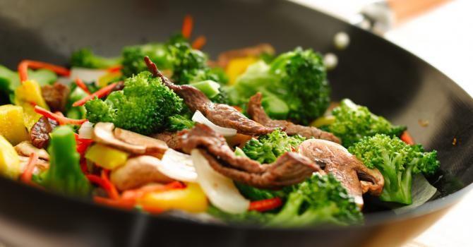 15 recettes sal�es et sucr�es anti-cholest�rol Wok de boeuf et légumes aux noix de cajou