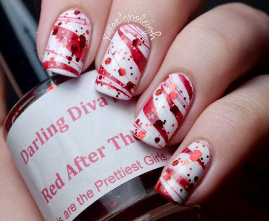 Candy Cane Stripes 3d Christmas Tree Nail Art: 1000+ Ideas About Candy Cane Nails On Pinterest