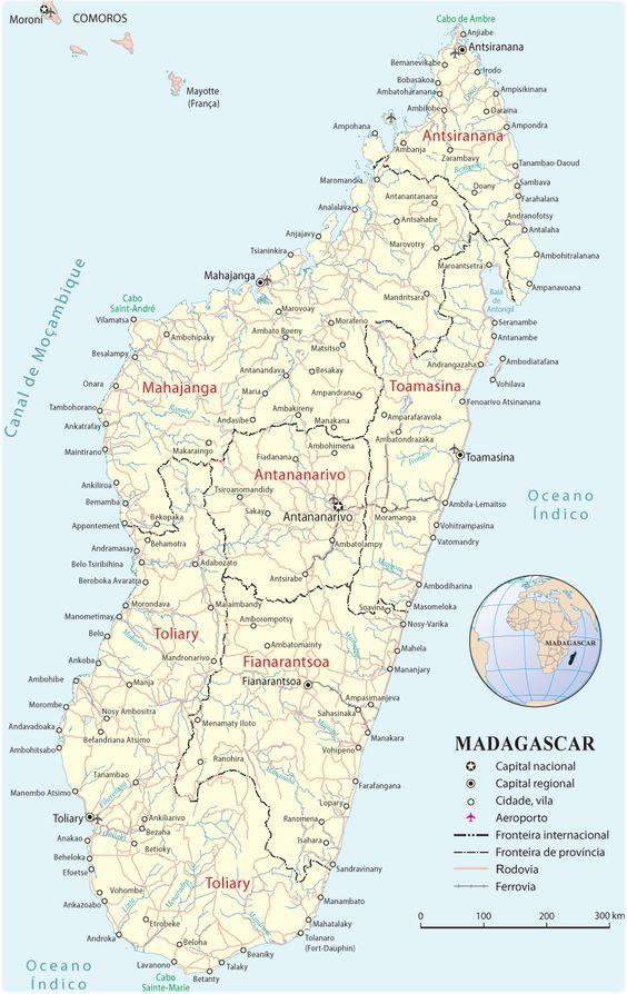 Mapa de Madagascar - Mapas Africa