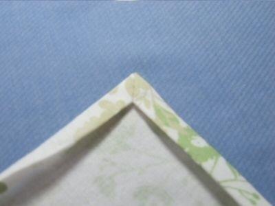ランチョンマットやカーテンなどの角をスッキリと仕上げる方法 カーテンを作りました↓ http://atelier.woman.excite.co.jp/creation/25933.html