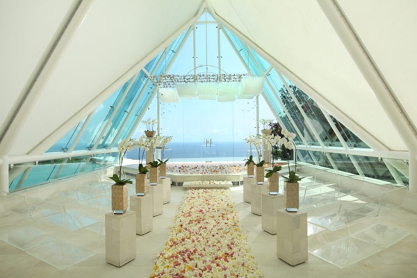 Amazing Wedding Venue in Bali with Chapel overlooking the ocean http://www.tirthabali.com/