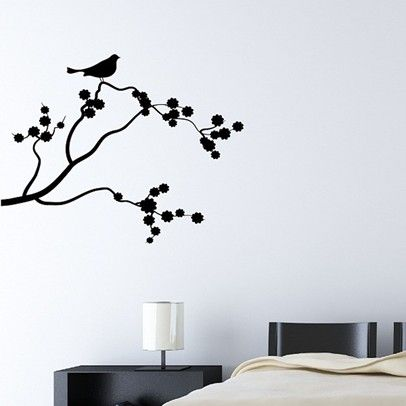 Bird on tree-ARBRES-003-Black @ www.thaisale.co.th