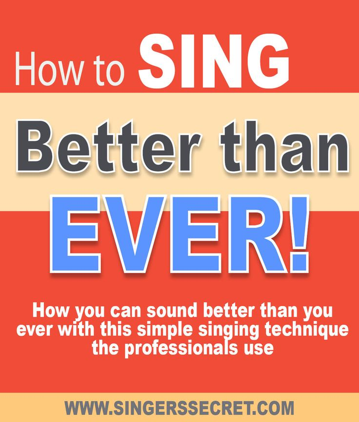 Sing better than ever with this sneaky trick that the professionals use. http://singerssecret.com/sing-better-than-ever/ #singingtips #singing #howtosing
