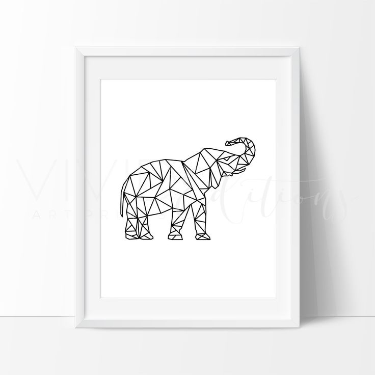 - Description - Specs - Processing + Shipping - Poly Geometric Elephant Art Print. Our designs make an attractive, modern contemporary wall piece for your baby nursery, home, office or even as a gift.