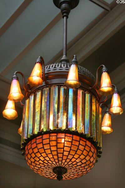 Hispano-Moresque Electrolier lamp (c1900) by Louis Comfor Tiffany at Toledo Museum of Art. Toledo, OH.