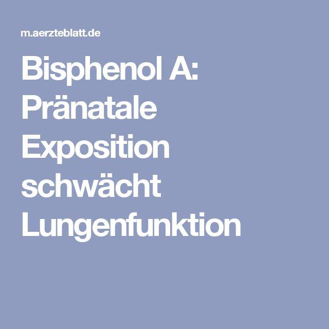 Bisphenol A: Pränatale Exposition schwächt Lungenfunktion