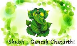 Subh Ganesh Chaturthi Natural Wallpaper, Ganesh Chaturthi Greetings, Ganesh Chaturthi Fb Covers, Ganesh Chaturthi Images For Facebook