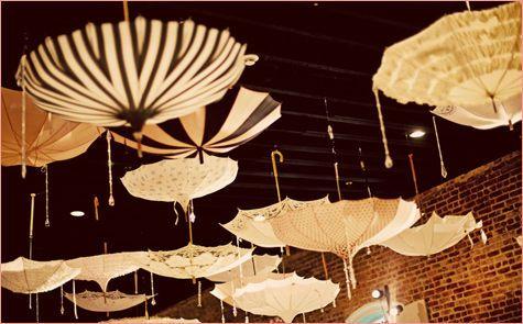 OMG I love this... April Showers... umbrellas!