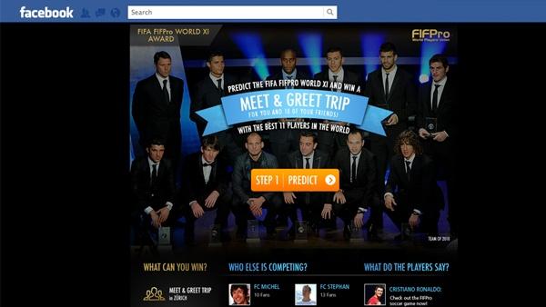 FIFA FIFPro World XI Facebook app