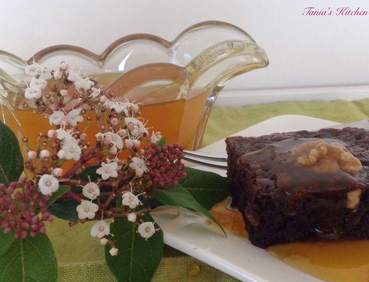 Glazed Apricot Chocolate & Walnut Brownie