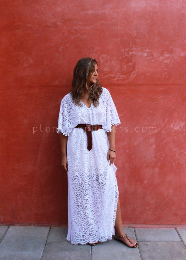Plan B anna evers DIY Lace kaftan