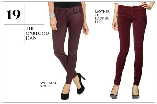 30 Fall Wardrobe Staples To Collect Now!- Looks like Garnet is in!
