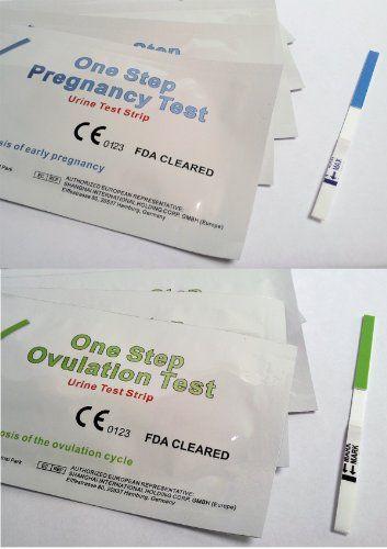40 x 20mIU Tiras de Prueba de ovulación/fertilidad y 10 x extremadamente temprano 10mIU Tiras de Prueba de Embarazo