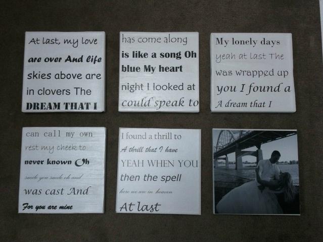 First dance lyrics +photo on canvasLyrics On Canvas