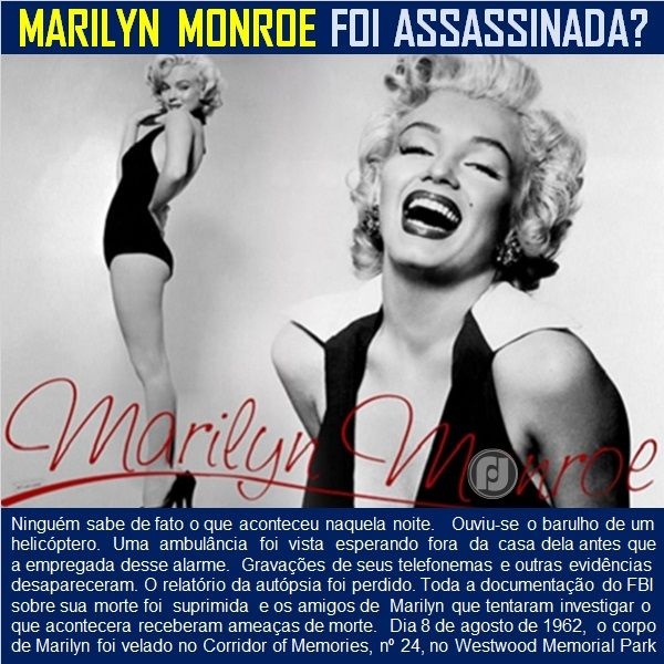 O Blog do JF: Marilyn Monroe: os mistérios da sua morte