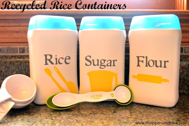 Baby Rice Container Recycle from It Happens in a Blink