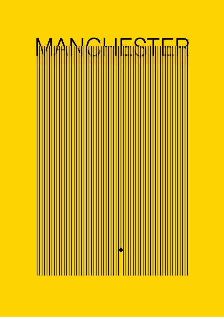 Manchester Hacienda rain poster