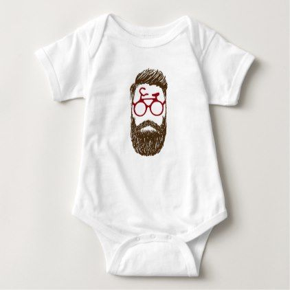#Hipster biker baby bodysuit - #cycling #gifts