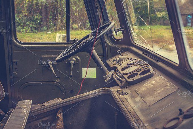 Rusty old truck 5 by Histeryk Photo on @creativemarket