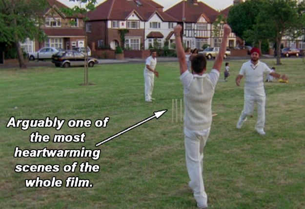 "Which is why the scene where Jess' dad and Joe play cricket together is just so lovely. | 21 Times ""Bend It Like Beckham"" Was Just The Best Damn British Film"