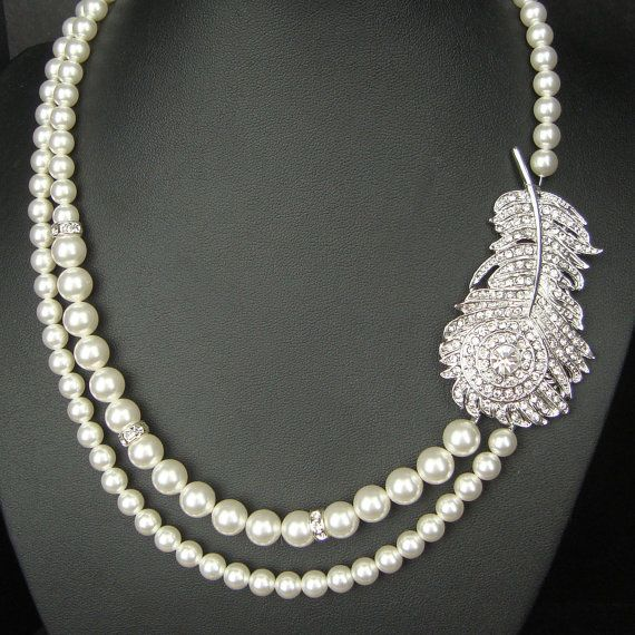 Hey, I found this really awesome Etsy listing at https://www.etsy.com/au/listing/115056962/peacock-bridal-necklace-vintage-wedding