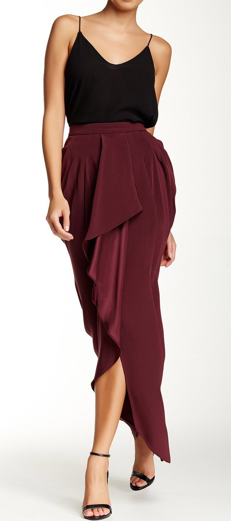 design nike shoes for free Burgundy Maxi Skirt  sponsored by Nordstrom Rack