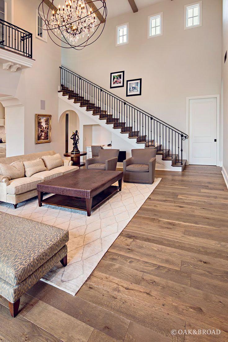Custom Wide Plank Hardwood Floor By Oak Broad In Living Room Of Arizona Hom Wooden Floors Living Room Living Room Hardwood Floors Wide Plank White Oak Floors