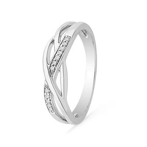 Sterling Silver Round Diamond Fashion Ring (1/20 cttw) Like Capri Jewelers Arizona on Facebook for A Chance To WIN PRIZES ~ www.caprijewelersaz.com