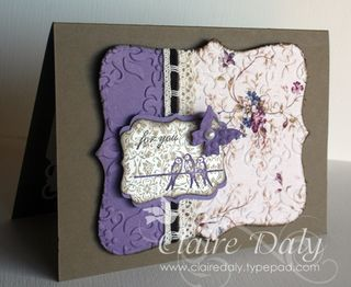 Embossing fabric..Attach your fabric to some cardstock -use Tombow glue (the…