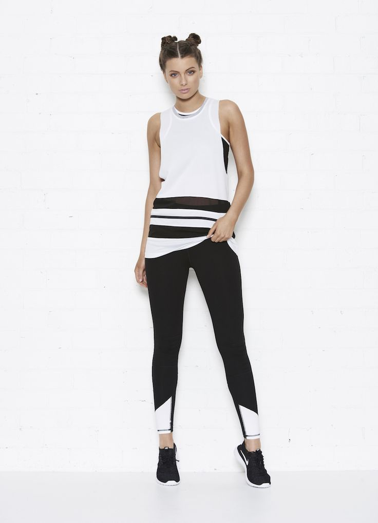 The Abbey Tank + Hayley Pant in Black/white   front view