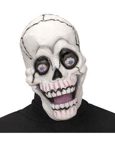 Máscara de calavera con ojos saltones