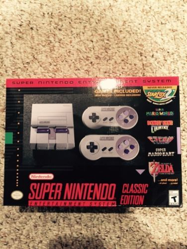SNES Classic Edition Super Nintendo Console FREE SHIPPING!!!: $130.00 End Date: Sunday Dec-31-2017 18:12:44 PST Buy It Now for only:…
