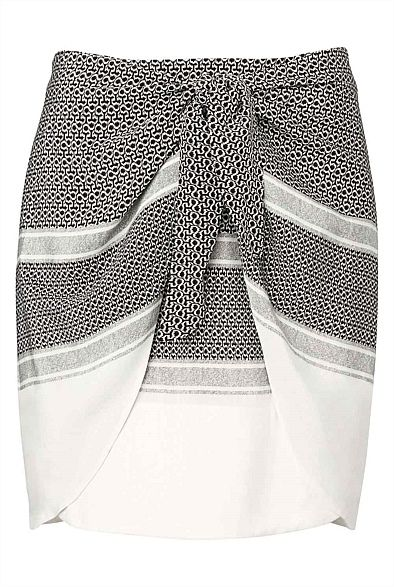 Tie Front Skirt - Perfect over a one piece to take you from the beach to cafe  #WITCHERYSTYLE