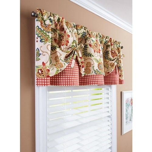 Country Kitchen Ramona: Better Homes And Gardens Gingham And Blooms Valance, Multi