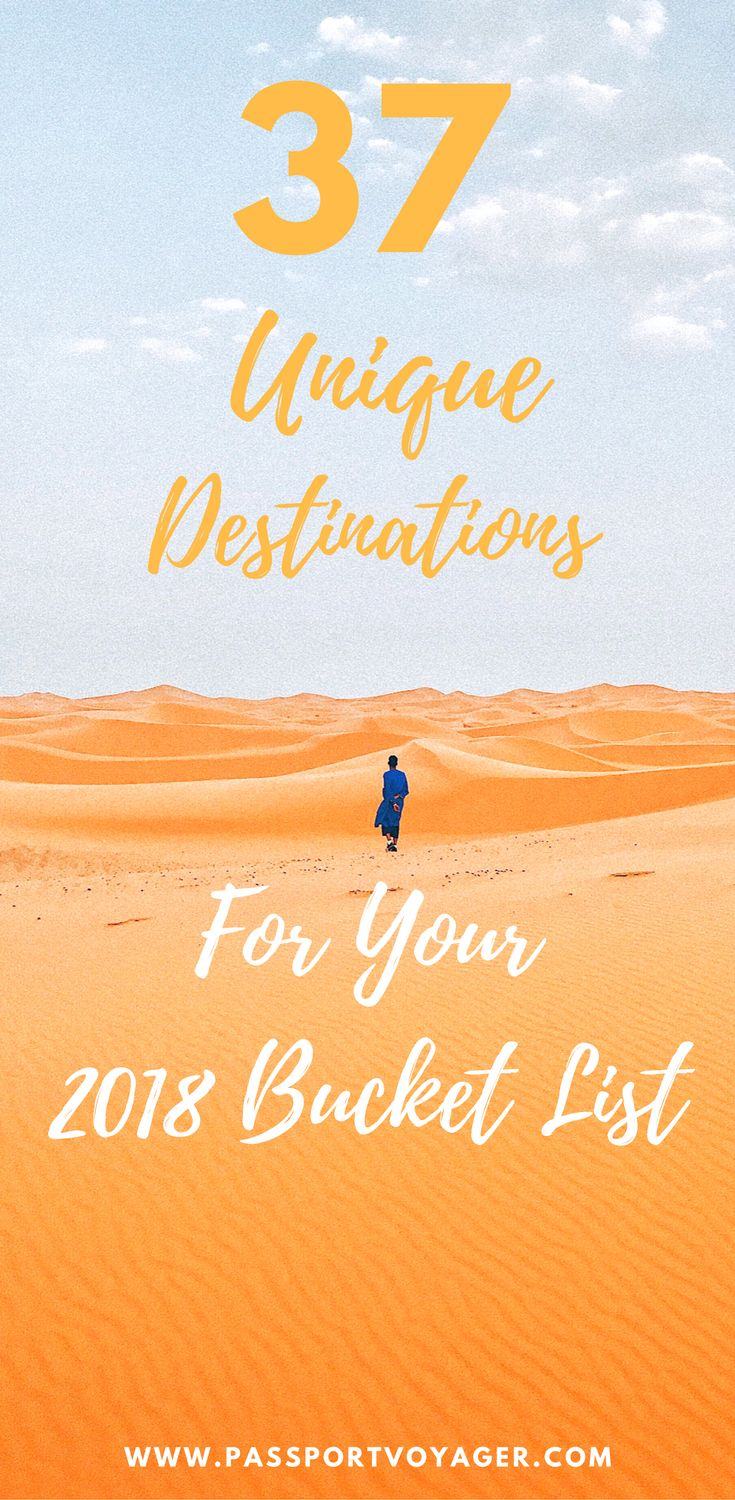 Travel bloggers share their top bucket list destinations for 2018 travel, including many unique and unheard of locations. If you're looking for some wanderlust inspiration for the new year, check out this awesome list of 37 of the best bucket list spots for 2018 and start planning some brand new adventures! #bucketlist #travel #europe #asia #newyears #centralasia #southamerica #iceland #cuba