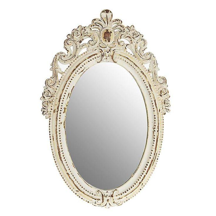 Καθρέφτης Vintage Λευκός Αντικέ