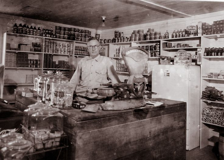 Country store in the 1930s.