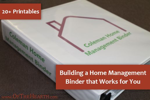 Building a home management binder that works for you for Home construction binder