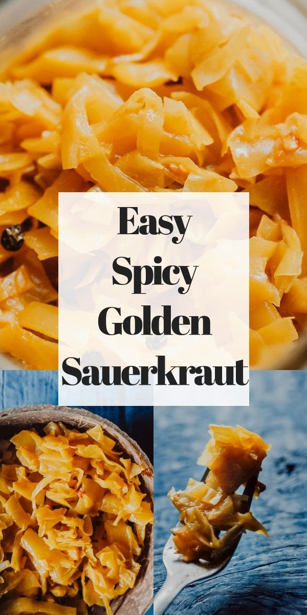 Spicy Golden Sauerkraut Vegan Gluten Free
