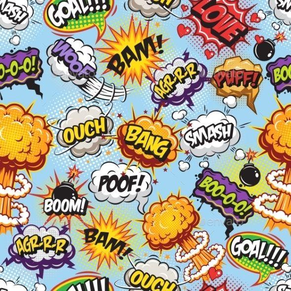 Comics Bubbles Pattern