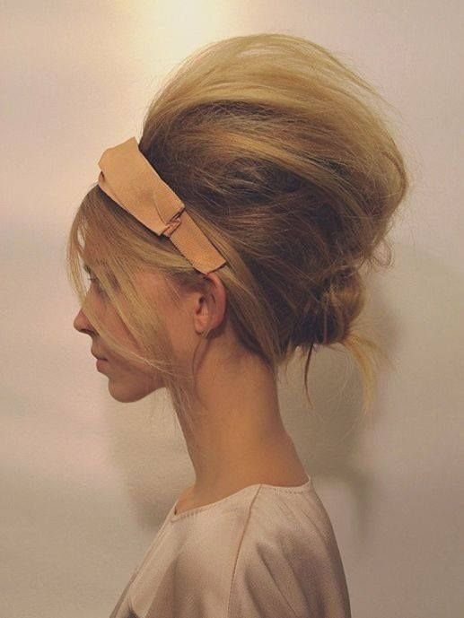 Beehive hair I have chosen this style because is a quick and easy hair style that any one could achieve, also anyone could pull this style off.