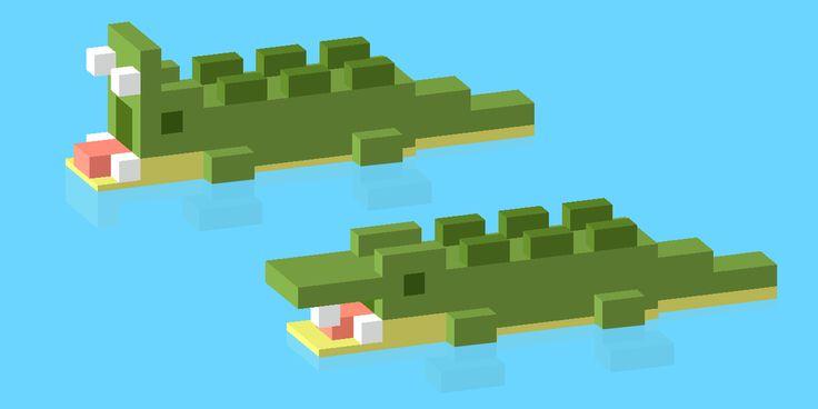 I made some crocodiles #crossyroad