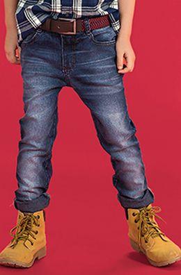 Calça Jeans Infantil Masculina Com Lavação                              …