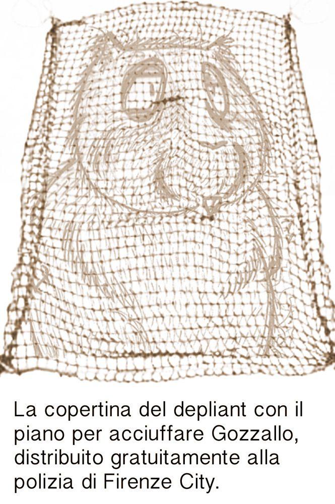 """Ep. 35: """"Addio Gozzallo?!"""" - La copertina del depliant con il piano per acciuffare Gozzallo, distribuito gratuitamente alla polizia di Firenze City"""
