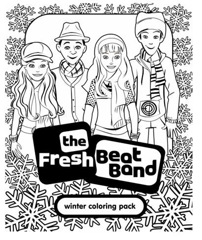 Celebrate winter with this seasonal coloring pack for Fresh beat band coloring pages