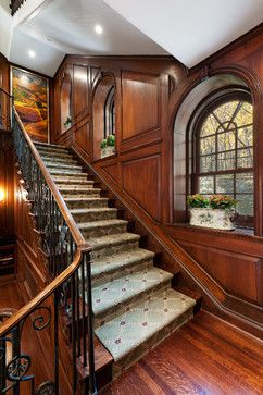Golden Square Mile Mansion - Montreal - traditional - staircase - montreal - David Giral Photography