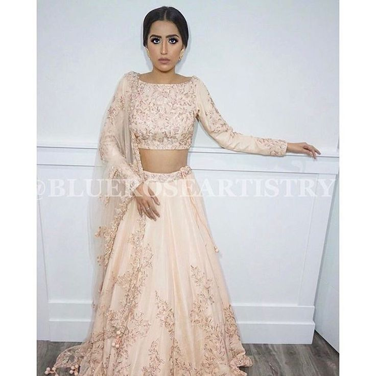 Peach/cream Lengha