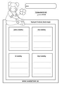 Slabiky - pracovný list